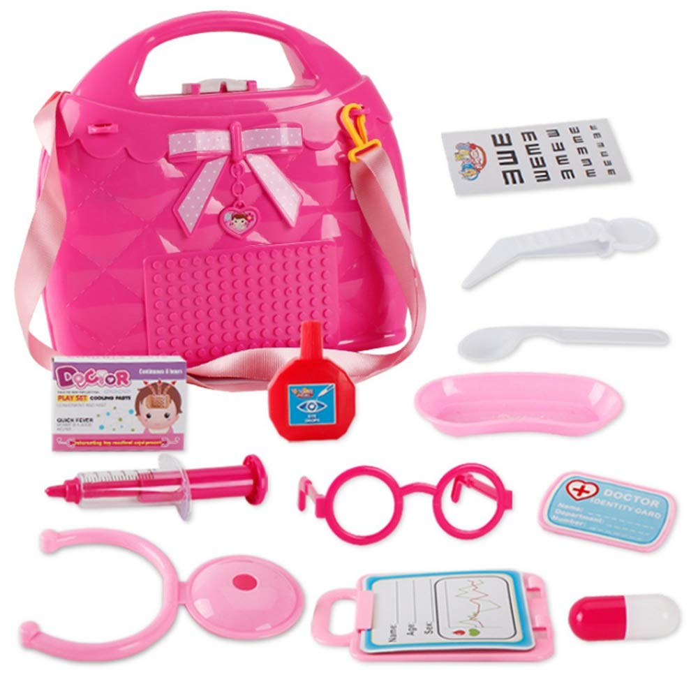 Children's educational toys 15 Pcs Girls Doctor Toys Cosplay Toy Kit Medical Case Nurse Toys Role Play Doctors Toy Set For Baby Kids Early Age Development Educational Pretend Play Set With Carry Case