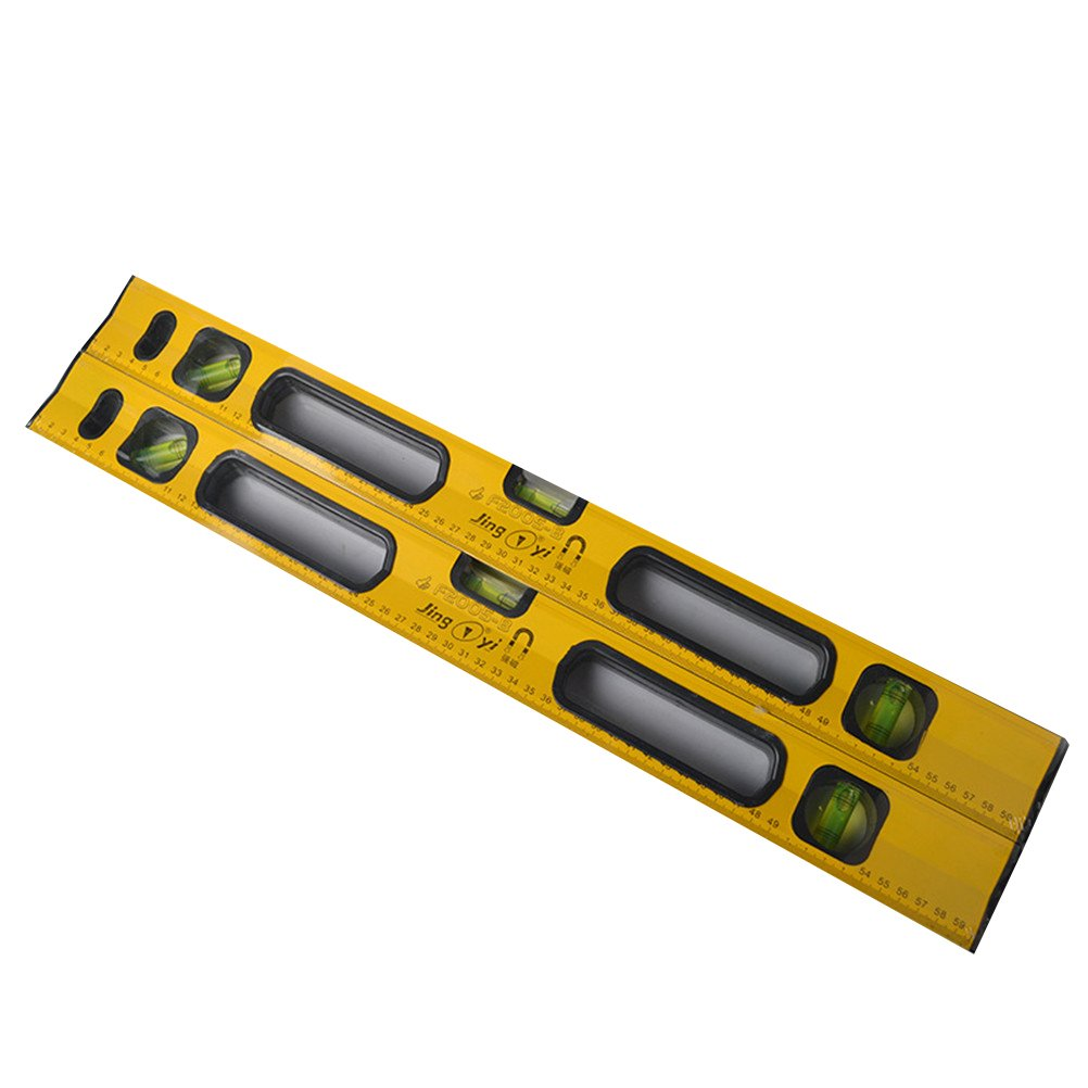 UEETEK 24-Inch Classic Magnetic Box Level Torpedo Level Plumb/Level/45-Degree Measuring Shock Resistant Spirit Level with Imperial and Metric Scales (Yellow)