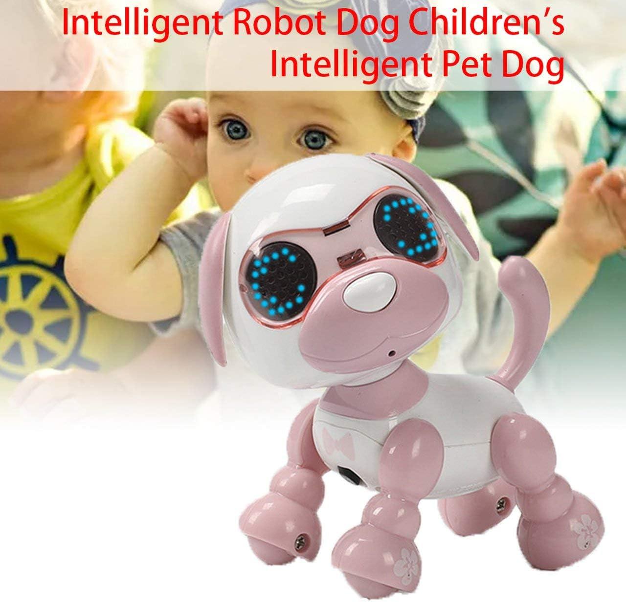 FRjasnyfall Smart Machine Dog Child Smart Pet Dog Induction Touch Electric Toy Puppy Intelligent Electronic Pet Fashion Blue