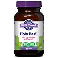 Oregon's Wild Harvest Holy Basil Organic Herbal Supplement, 60 Count
