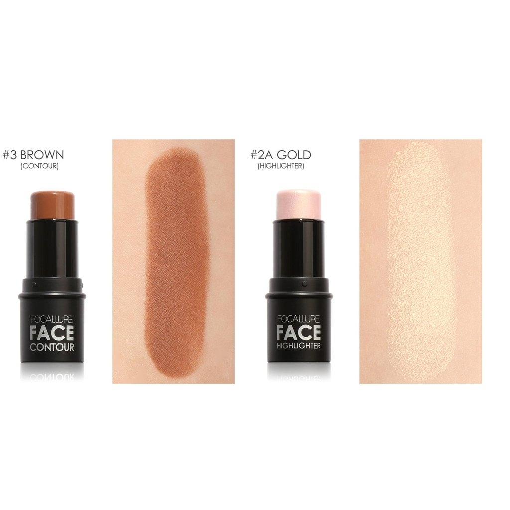 MagiDeal Profi. Make-up Shimmer Highlighter Highlight Stick Contour Stick, 2 Farben non-brand