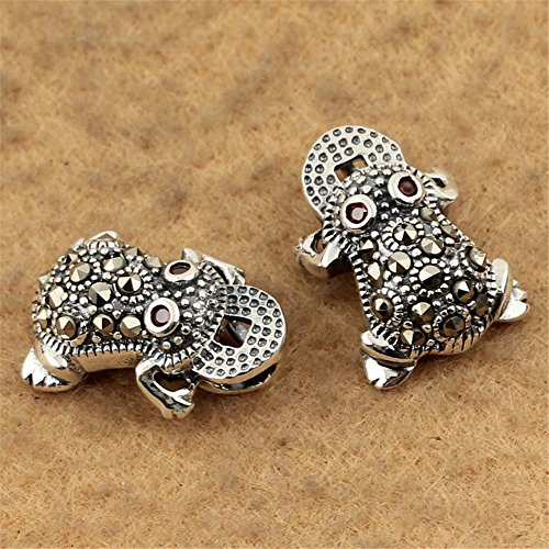 Marcasite Frog - MFMei Thai Sterling Silver Marcasite Frog Dangle Bead (CY106)