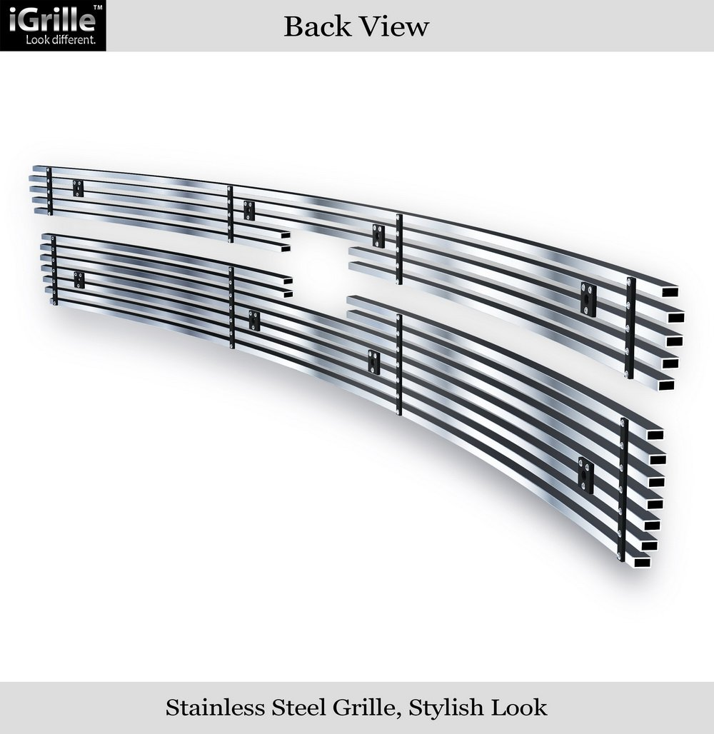 APS Stainless Steel 304 Black Billet Grille Grill Custome Fits 2007-2013 Chevy Silverado 1500