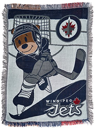 "The Northwest Company Officially Licensed NHL Winnipeg Jets Score Woven Jacquard Baby Throw Blanket, 36"" x 46"""