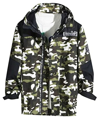 f41e020e X-Future Mens Casual Camouflage Slim Zip Up Long Sleeve Hoodie ...