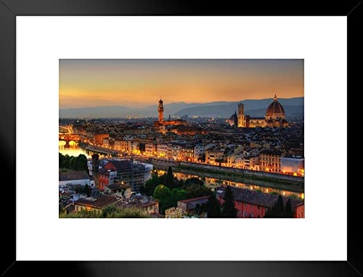 Poster Foundry Florence Italy at Dusk