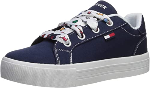 Tommy Hilfiger Unisex Kids Iconic Court Alt Sneaker Navy 12.5 Medium US Little