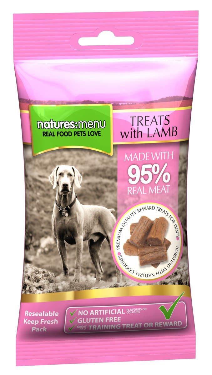 12 x 60 gm Natures Menu Dog Treats Lamb
