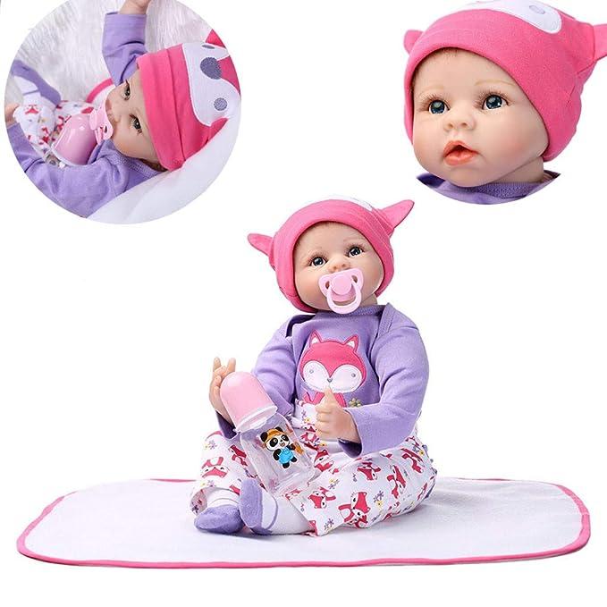 Amazon.com: Gbell - Muñeca de silicona con chupete para bebé ...