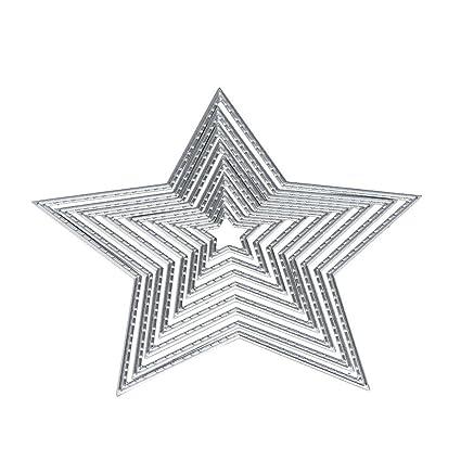 Juego de Troqueles, Sayue DIY Scrapbooking Molde en forma de estrella muere plantilla