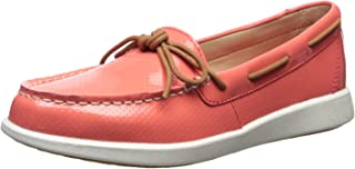 Sperry Women's Oasis Canal Patent Perf Boat Shoe, Coral, 7 Medium US