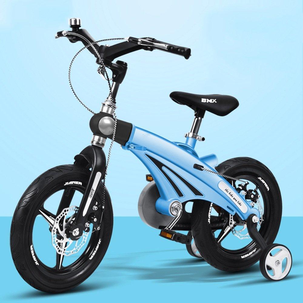 YANGFEI 子ども用自転車 子供の自転車の男の子のベビー自転車2歳から9歳のベビーキャリッジ12/14/16インチキッズバイクの自転車の長さのハンドルバーの座席 212歳 B07DWT557F 12 inch|青 青 12 inch