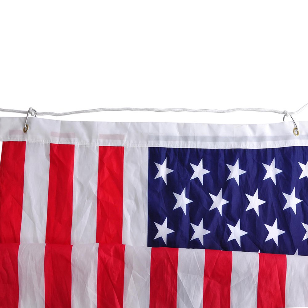 Yeshom 30 FT Upgraded Sectional Aluminum Flagpole 15 Gauge 24-30mph 3'x5' US American Flag Ball Fly 2 Flags Outdoor by Yeshom (Image #8)