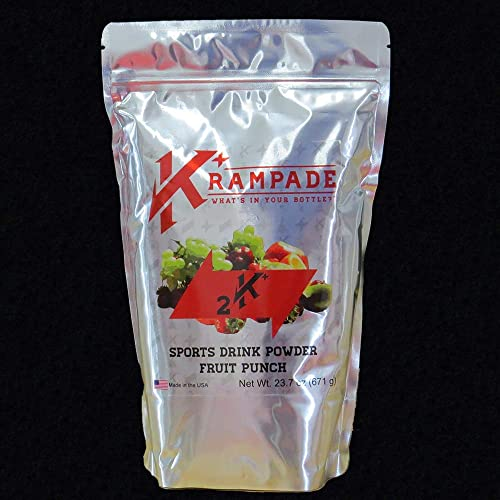 Krampade Anti-Cramping Potassium Replacement Drink – 2K Fruit Punch 2.5 Gallon Pouch Colorless