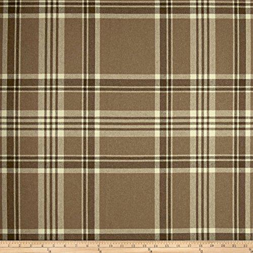 Ralph Lauren Plaid Fabric - Ralph Lauren Home LCF65796F Deerpath Trail Plaid Basketweave Fabric by the Yard, Camel