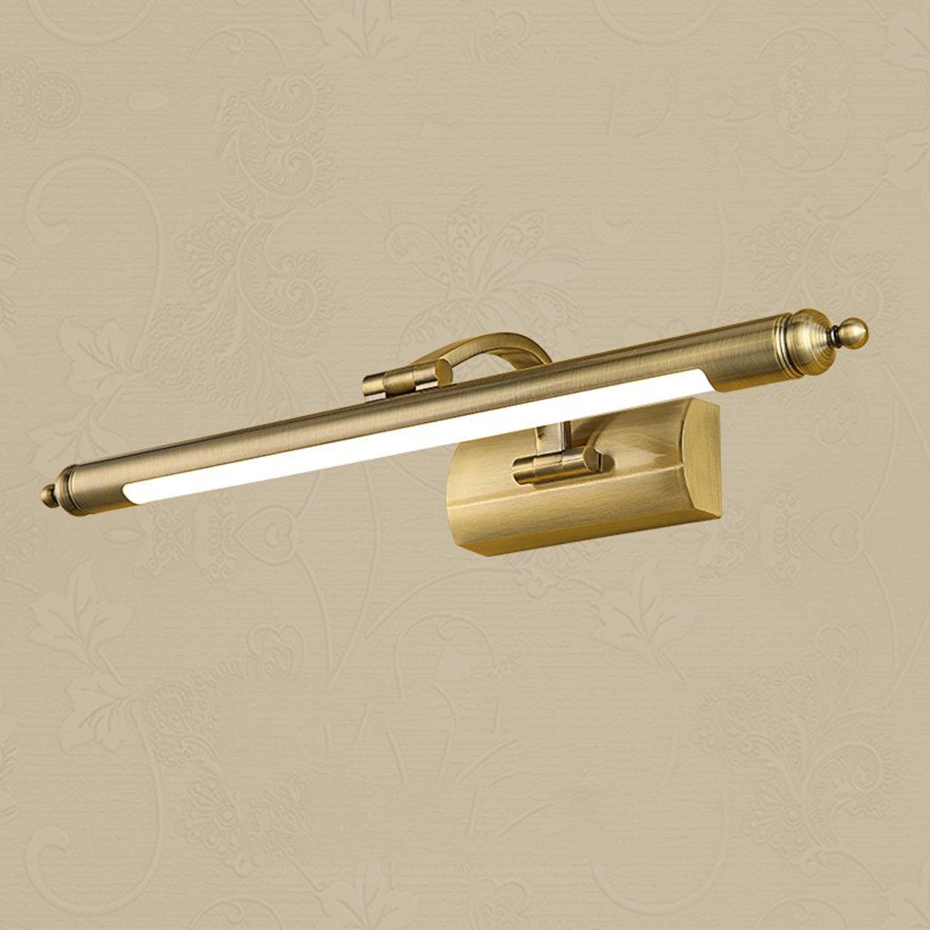 & Spiegellampen LED-Spiegel-Scheinwerfer, Retro Spiegel-Licht Badezimmer Badezimmer Spiegel Schrank Lichter Make-up Lichter Badezimmerbeleuchtung (Größe   65CM)