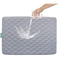 """Pack n Play Mattress Protector Waterproof, Premium Quilted Playard Sheet Cover 39"""" X 27"""" fits for Baby Foldable and…"""