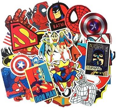 Marvel Dc Avengers Super Hero 50pcs Sticker Decal Pack Superman Hulk Spiderman Captain America Deadpool Vinyls For Laptop Kids Teens Cars Motorcycle Bicycle Skateboard Luggage Bumper Stickers Hippie Amazon Co Uk Car Motorbike