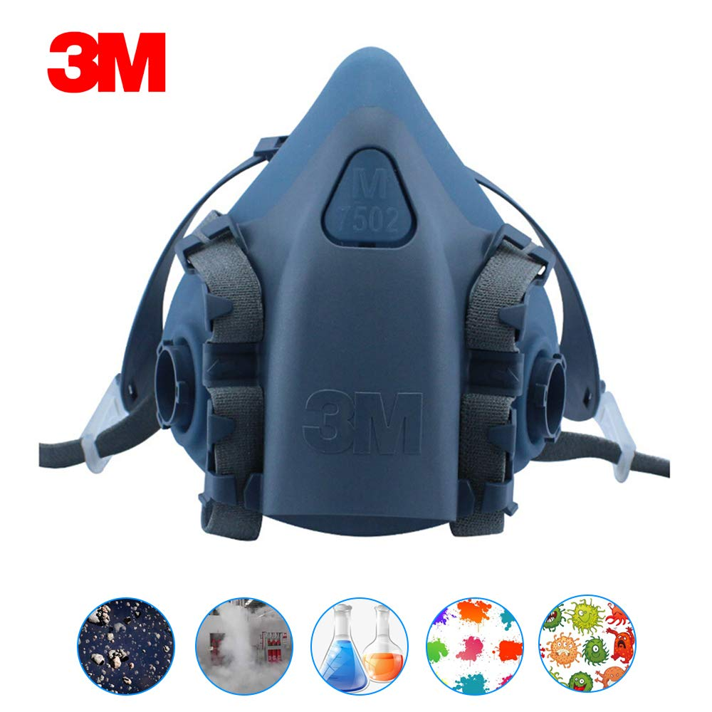 3M 7502 Half Facepiece Respirator Industry Painting Spray gas mask Medium