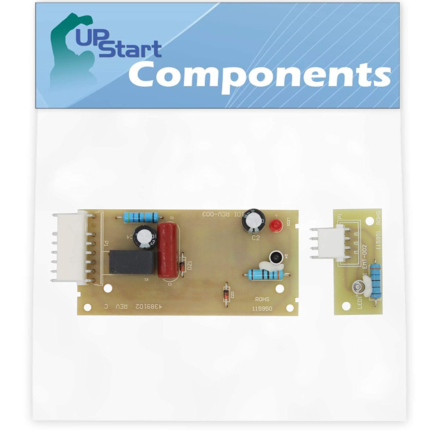 W10757851 Refrigerator Ice Level Control Board Replacement for KitchenAid KSSC42QMS02 Refrigerator - Compatible with 4389102 Icemaker Emitter Sensor Control Board - UpStart Components Brand