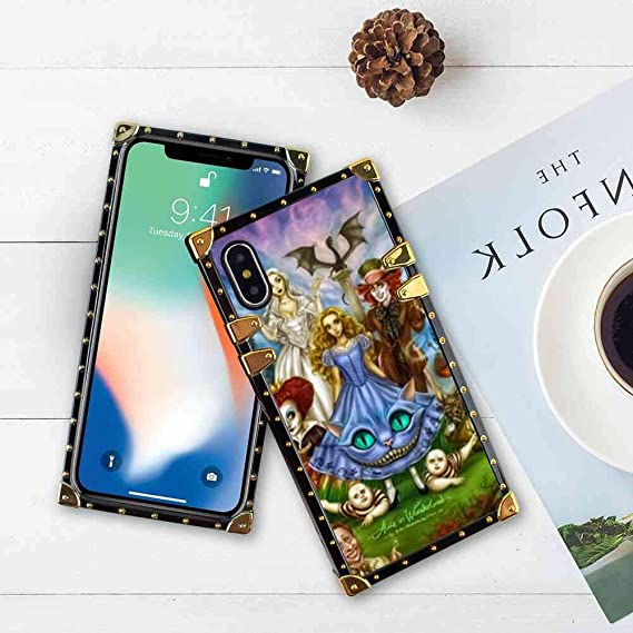 Cover Case Fit For Iphone Xs Max 6 5 Version Alice In Wonderland Wallpaper