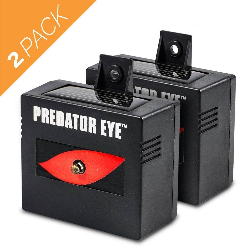 Aspectek Predator Eye Night Time Solar Powered Animal Repeller - 2 Pack, Waterproof, Animal Control, Nocturnal Animals, Outdoor Use