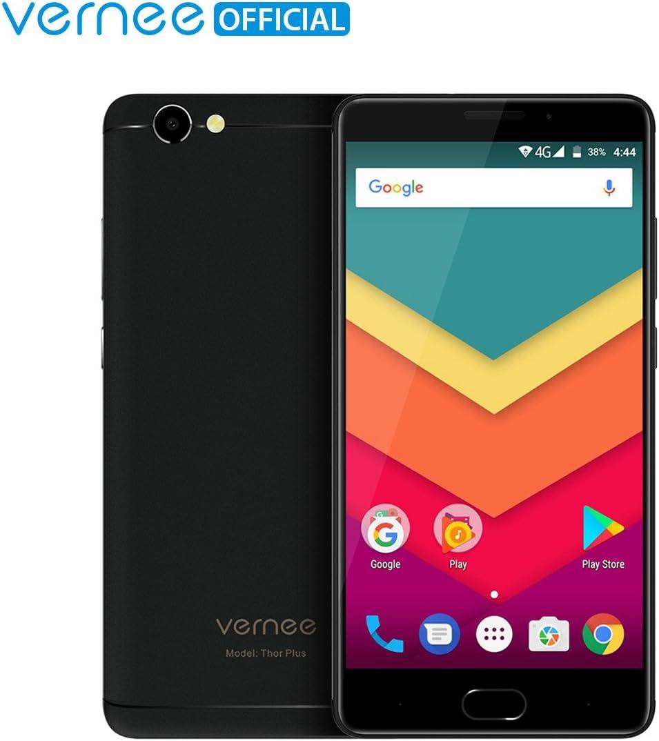 Teléfono Móvil Libre,Vernee Thor Plus 4G Smartphone Libre,Pantalla AMOLED de 5.5 Pulgadas,Android 7.0 Octa-Core 3GB+32GB,Doble SIM,Huella Dactilar,Batería 6200mAh,Cámaras de 8MP+13MP(Negro): Amazon.es: Electrónica