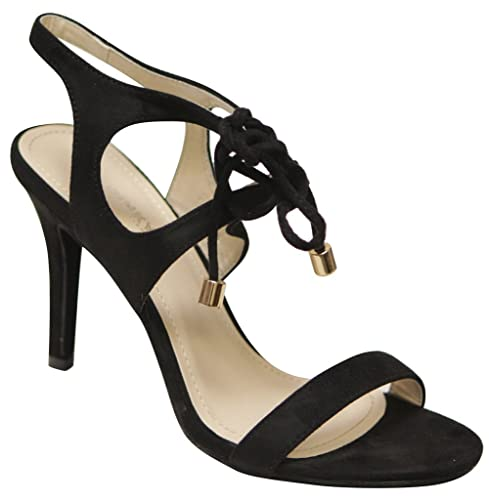 93a42c9ff Via Pinky Carly-04 Women s open toe slingback lace tie ankle strap suede  high heel