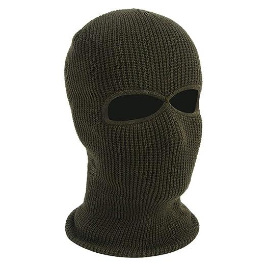 003e92fdaa9 Balaclava Face Mask 3-Hole Knitted Full Face Cover Ski Mask Adult Winter  Warm Knit