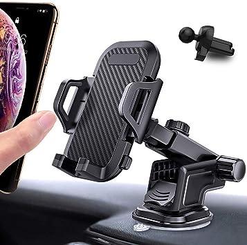KAILH Soporte Móvil para Coche, Soporte Movil Coche Ventilación Universal 360 Grados Rotación Porta Movil Coche para Rejillas del Aire de Coche para iPhone, Android Smartphone y GPS Dispositivo: Amazon.es: Electrónica