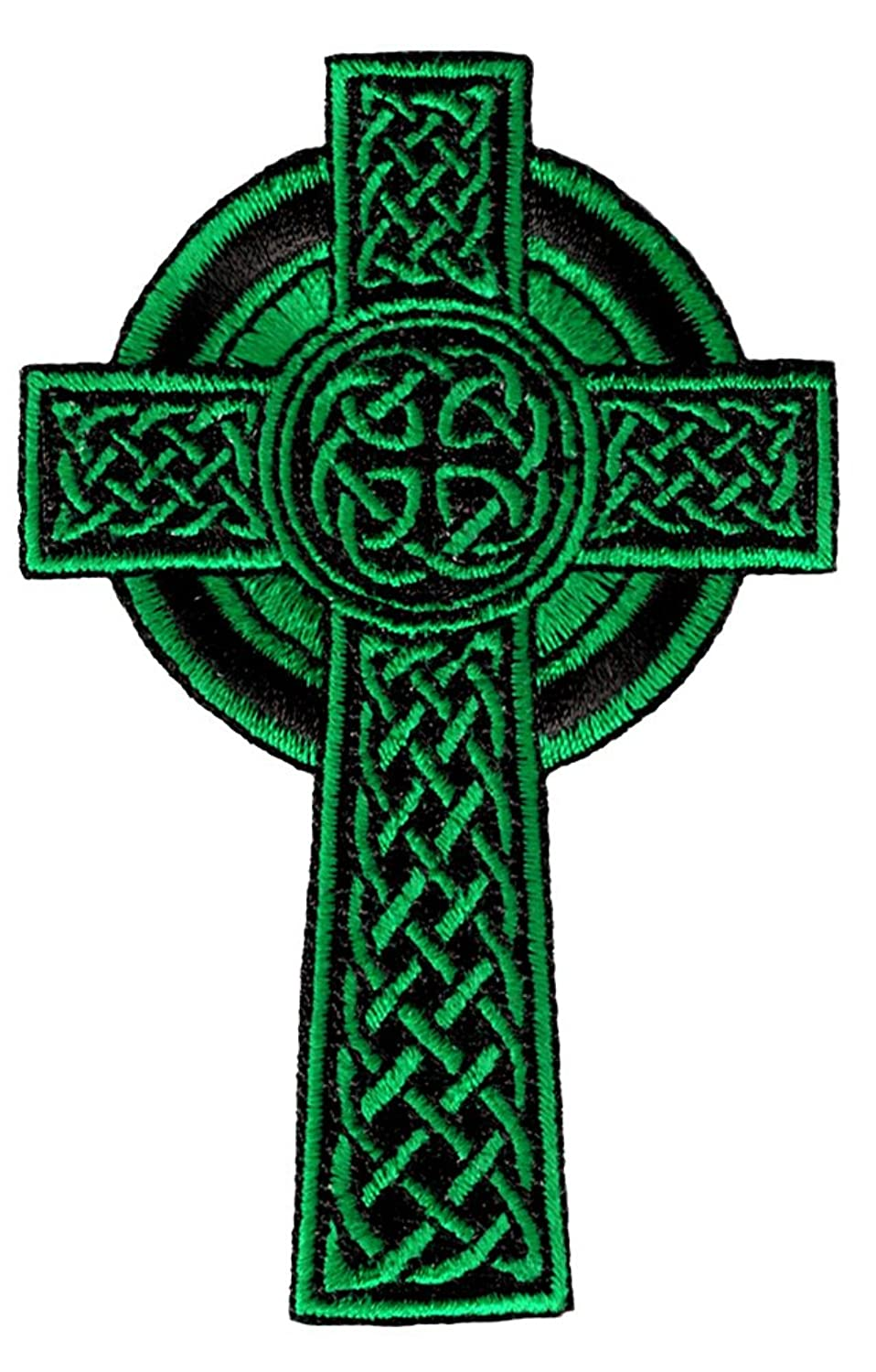 Green Celtic Cross Art
