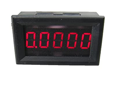 Digital Amp Meter Panel : Amazon.com: yeeco 5 digits dc 0 3.0000a digital ammeter amp meter