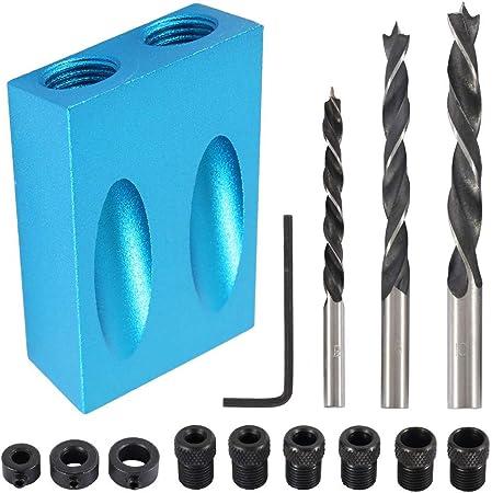 4-8mm Pocket Hole Jig Dowel Twist Step Drill Bit For Woodworking Tools kit USA