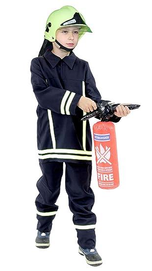 marktfähig beste Wahl modisches und attraktives Paket Foxxeo Feuerwehr Kostüm mit Feuerwehr Helm für Kinder ...