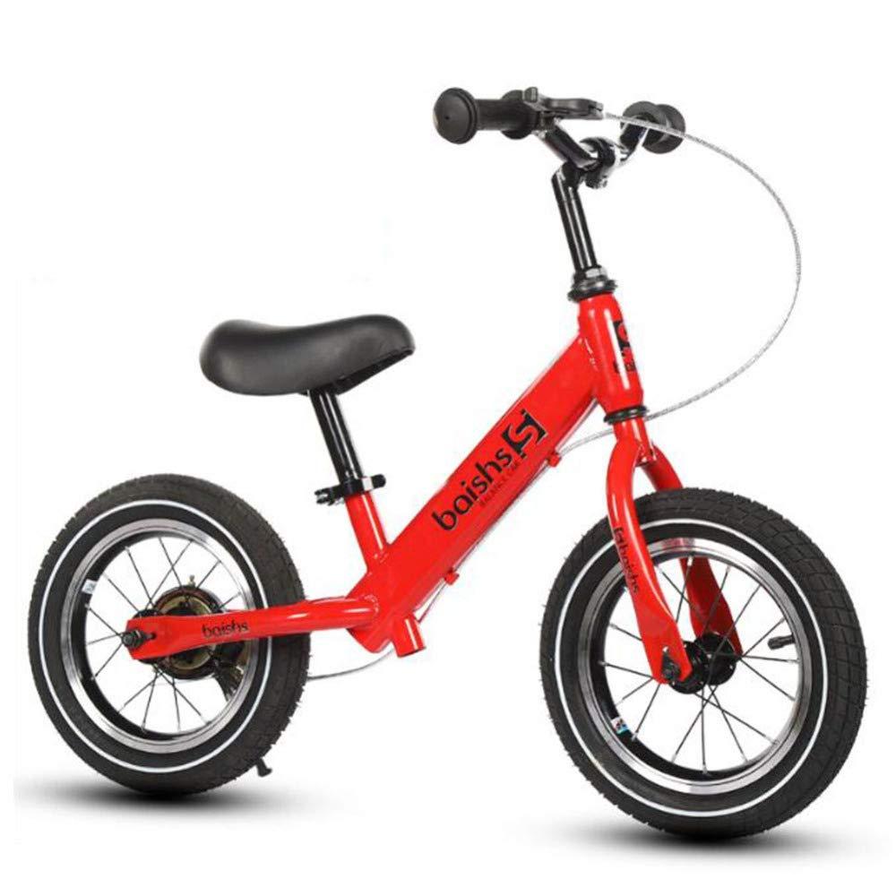 rouge  L-YIN Draisiennes FX4134 Acier Au voiturebone Pas De Pédale Solde La Formation Bicyclette 2-6 Ans Garçon Fille