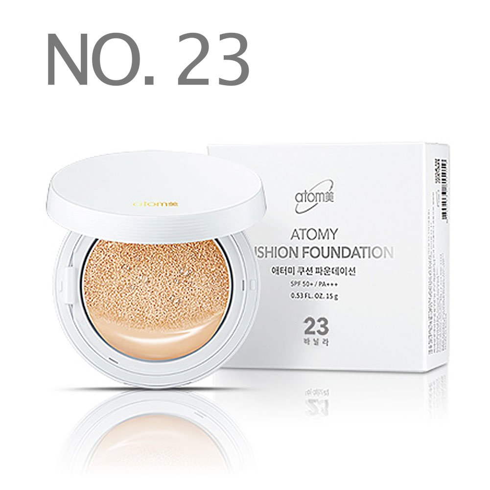 [ ATOMY ] Cushion Foundation SPF50 / PA+++ (15g x 2) (No. 23 Ivory)