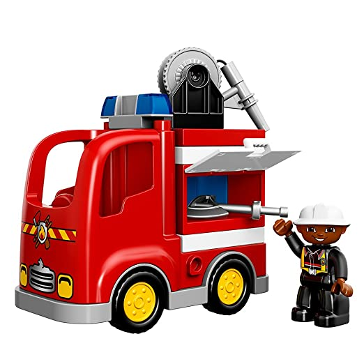 Amazon Lego Duplo Town 10592 Fire Truck Building Kit Toys Games