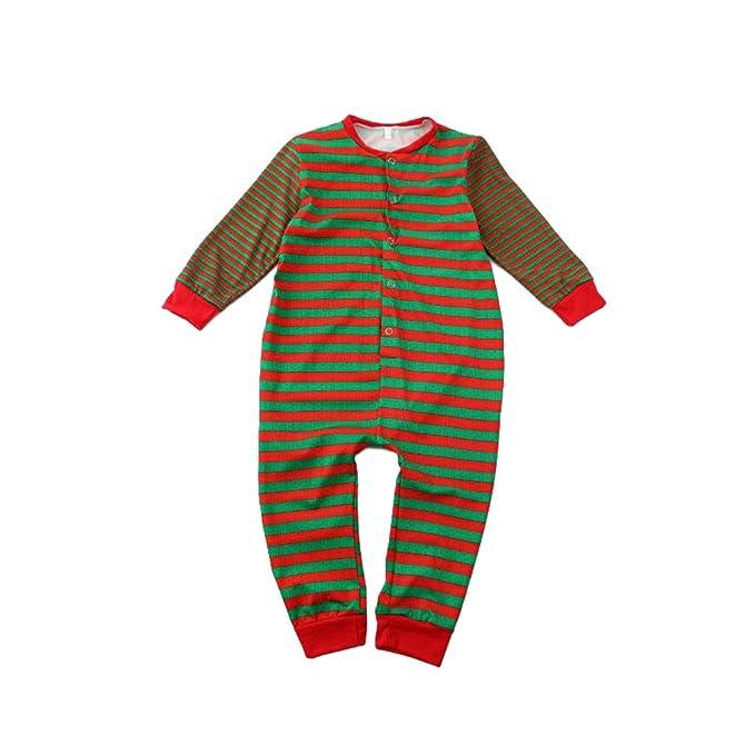 Hibote Familia Navidad Pijamas Mamelucos a Juego Adultos Hombres Mujeres Niños Bebé Navidad Impreso Pijamas Ropa
