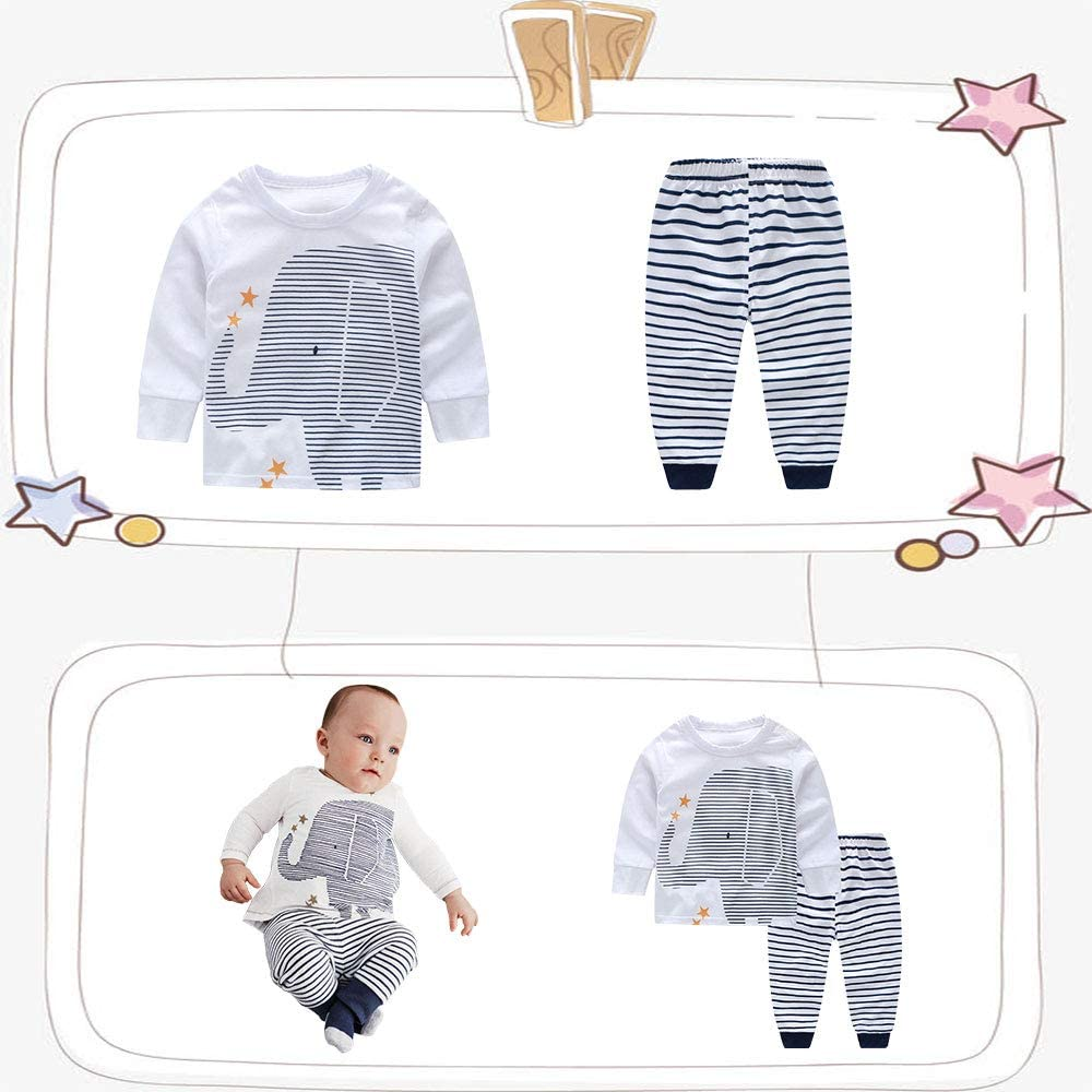 Yilaku Baby Romper Pajamas Baby Boys Sleepsuits Sleepwear for 0-24 Months Newborn 3 Pack Cotton Long Sleeve Baby Clothes with Hats