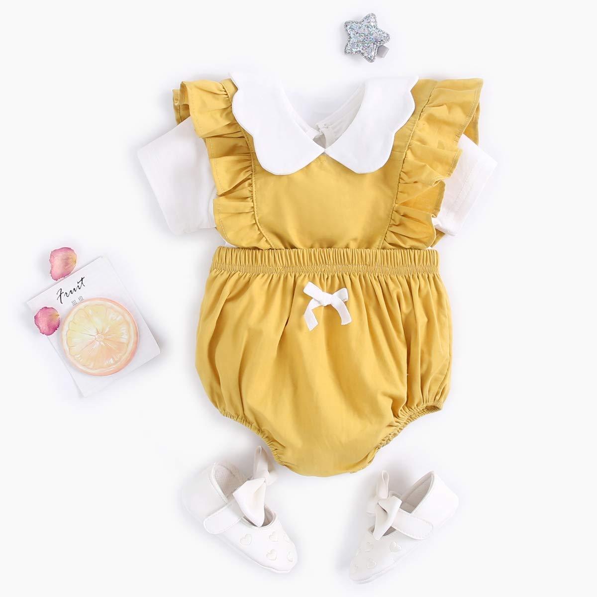 Rompers Sanlutoz Cotton Baby Girls Summer Clothing Set Fashion Newborn Baby T-Shirt