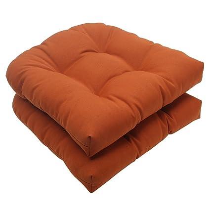 Astounding Amazon Com Set Of 2 Cinnamon Burnt Orange Outdoor Patio Beutiful Home Inspiration Xortanetmahrainfo