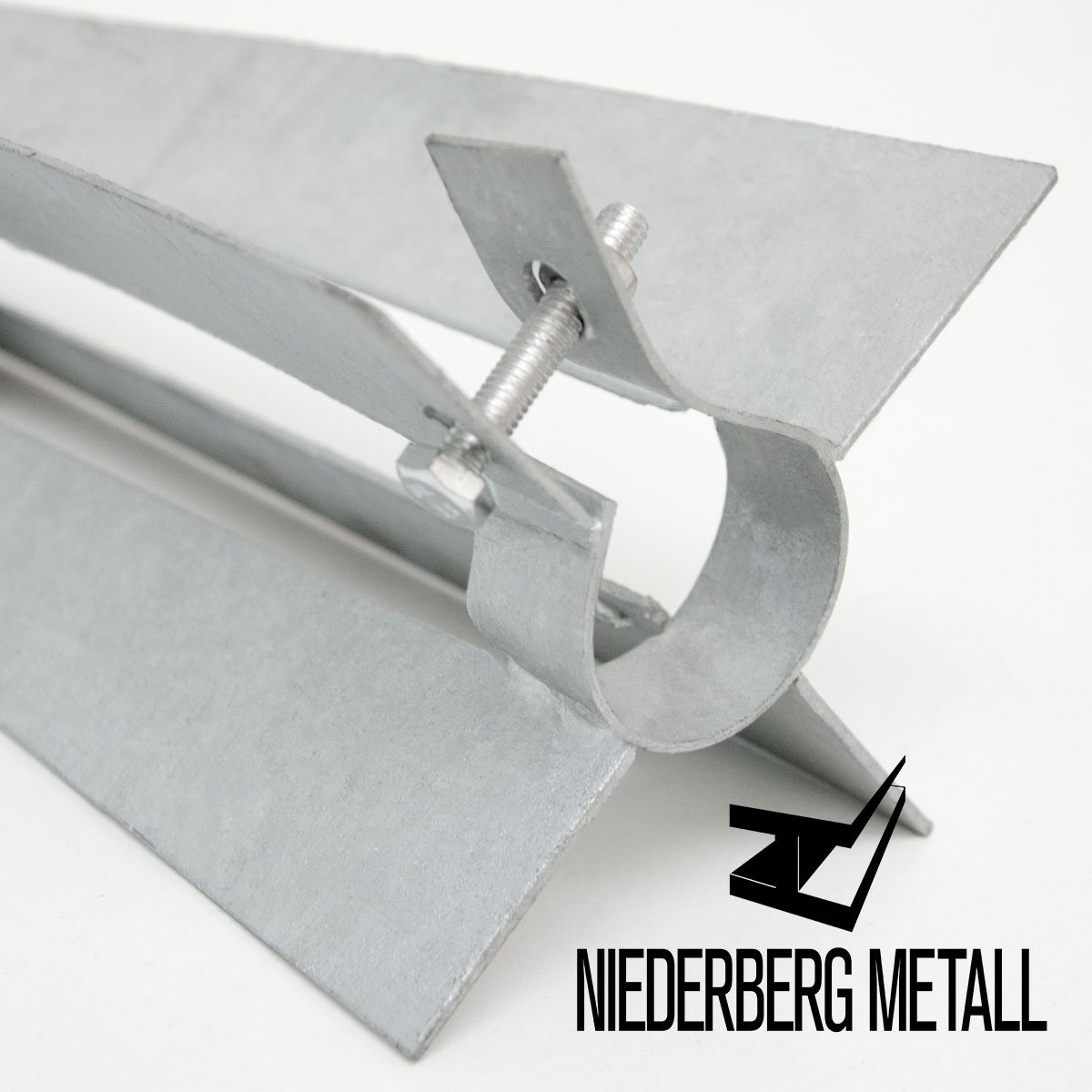 NIEDERBERG METALL Bodenhülse mit Klemmschelle 50cm Einschlaghülse