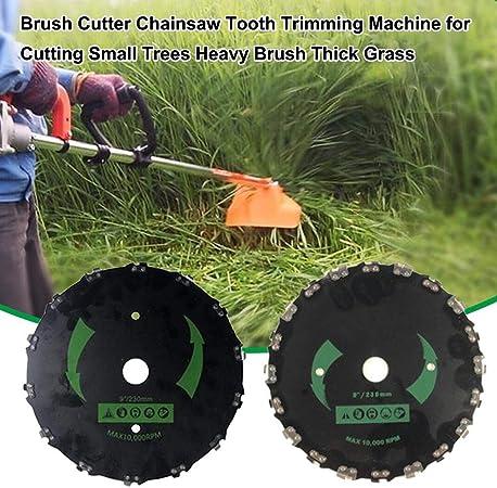 evergremmi Hoja de desbrozadora, desbrozadora Motosierra Máquina de Corte de Dientes para Cortar árboles pequeños Cepillo Pesado Hierba Gruesa 14/20 Dientes 25.4 mm: Amazon.es: Hogar