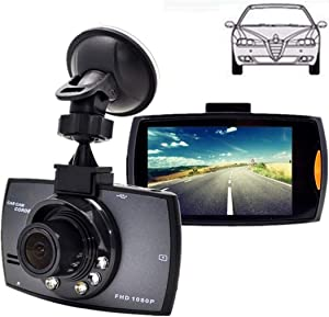 Leoneva Dash Cam 2.7''LCD Durable Practical HD 1080P Display Wide Angle Lens Car Driving Recorder,120° Wide Angle, in-Visor Video