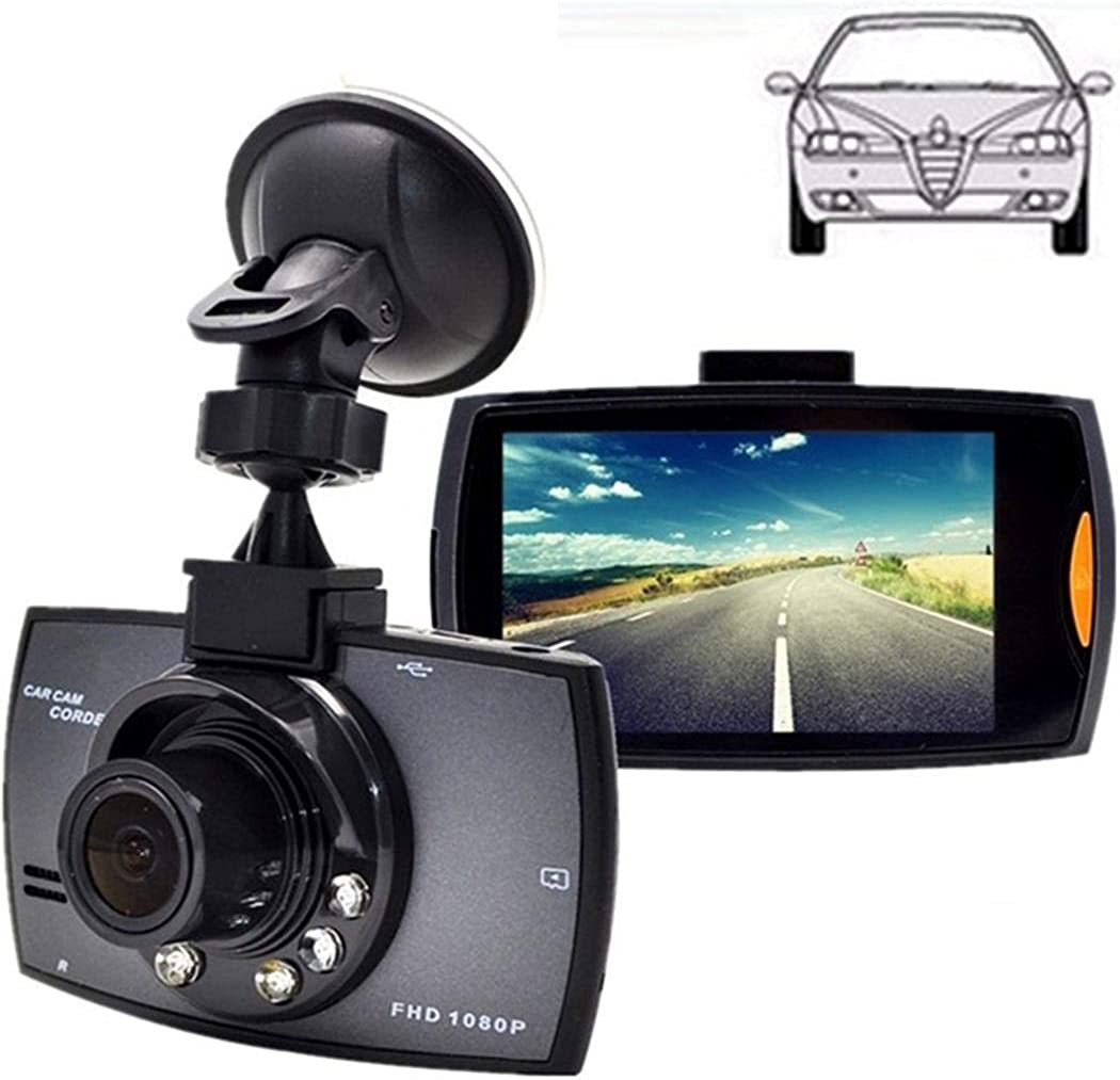 MinGe Dash Cam 2.7LCD Durable Practical HD 1080P Display Wide Angle Lens Car Driving Recorder,120/° Wide Angle in-Visor Video Black
