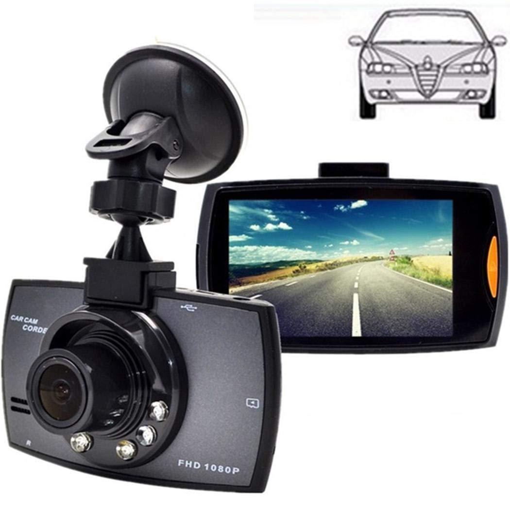 Zimrio Registratore di Guida per Auto con Obiettivo grandangolare con Display LCD HD Durevole e Pratico Telecamera Posteriore