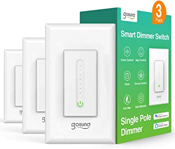 3-Pack TanTan Gosund Wi-Fi Smart Dimmer Switch