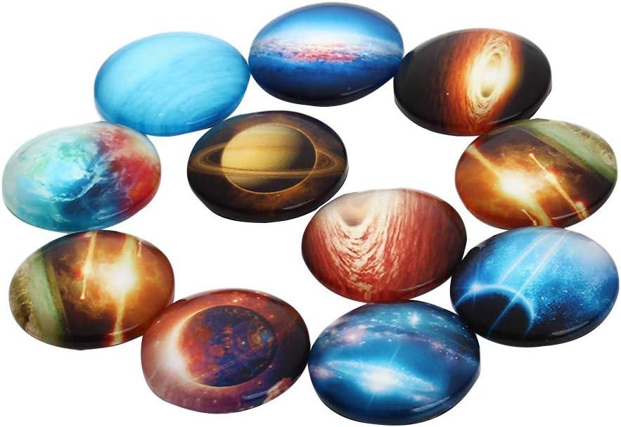 SUPVOX Juegos de cabujones de piedras preciosas naturales de 15 piezas, cabujones de joyería, sin hallazgos de latón en tono platino, forma de gota (patrón aleatorio de 25 mm)
