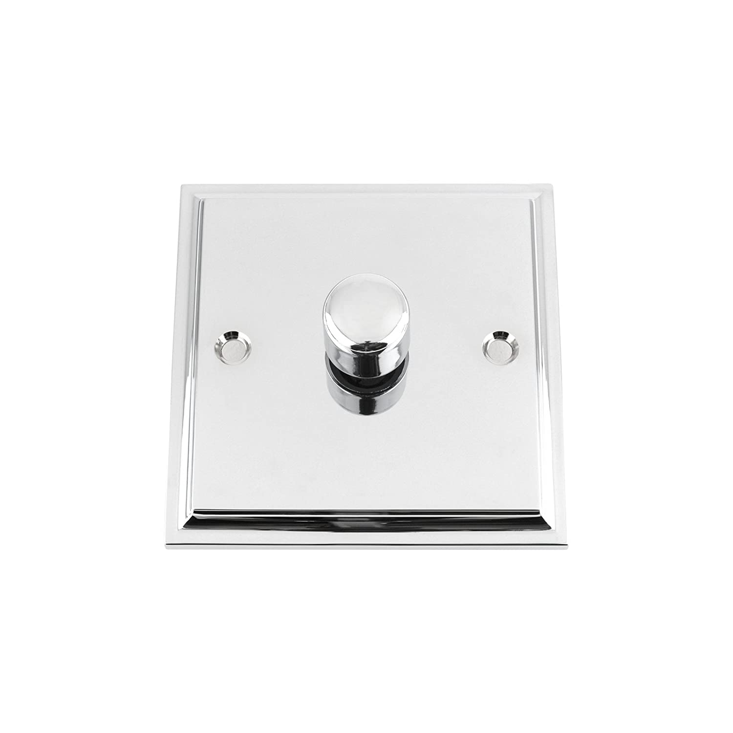 10 Amp Light Dimmer Switch 1 Gang 2 Way 1000W - Victorian - Polished Chrome A5 Products Ltd