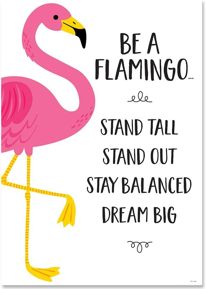 "10225 Creative Teaching Press Palm Paradise Flamingo Fun 6/"" Designer Cut-Outs"